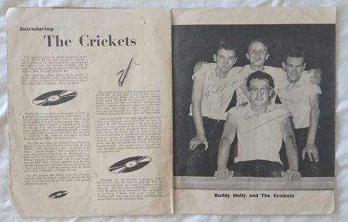 Buddy Holly and the Crickets autographed program 1958