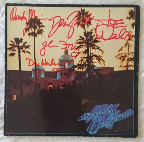 SOLD - Eagles - Hotel California - Signed Album