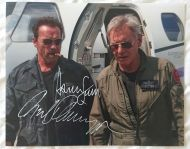 Harrison Ford & Arnold Schwarzenegger Signed Photo 8x10 Expendables