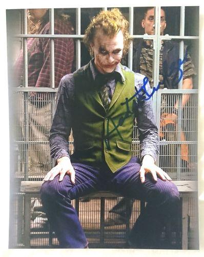 """Heath Ledger signed 8x10 Joker photo """"extremely rare"""""""