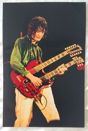 Jimmy Page Signed Autograph