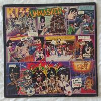 KISS signed 1997 Unmasked LP Cover