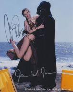 Carrie Fisher / James Earl Jones - Hand Written Signatures