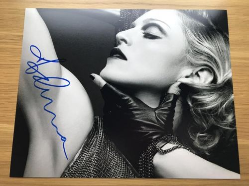 SOLD - MADONNA Authentic Signed 8x10 Photo