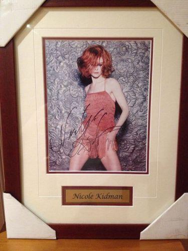 Original Nicole Kidman signed & framed photograph