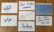 Autographed Signed Original STAR WARS cards x7