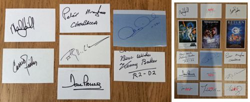 STAR WARS Signed cards x 7