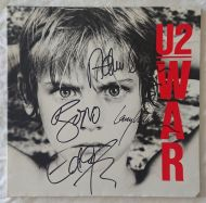 U2 original signed vinyl LP album