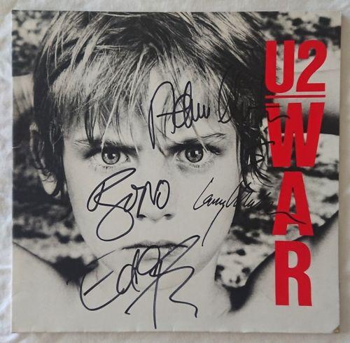 U2 original signed vinyl LP album
